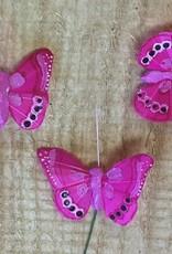 Vlindertjes - Fuchsia per 3
