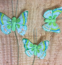 Vlindertjes - Groen per 3 stuks