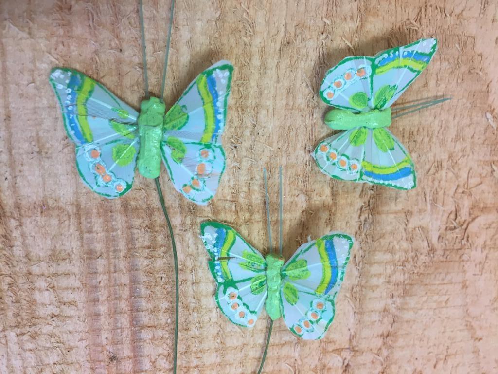 Vlindertjes - Groen per 3