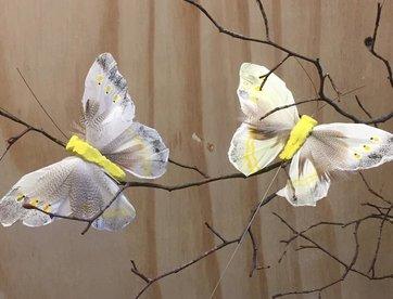 Vlindertje -Geel