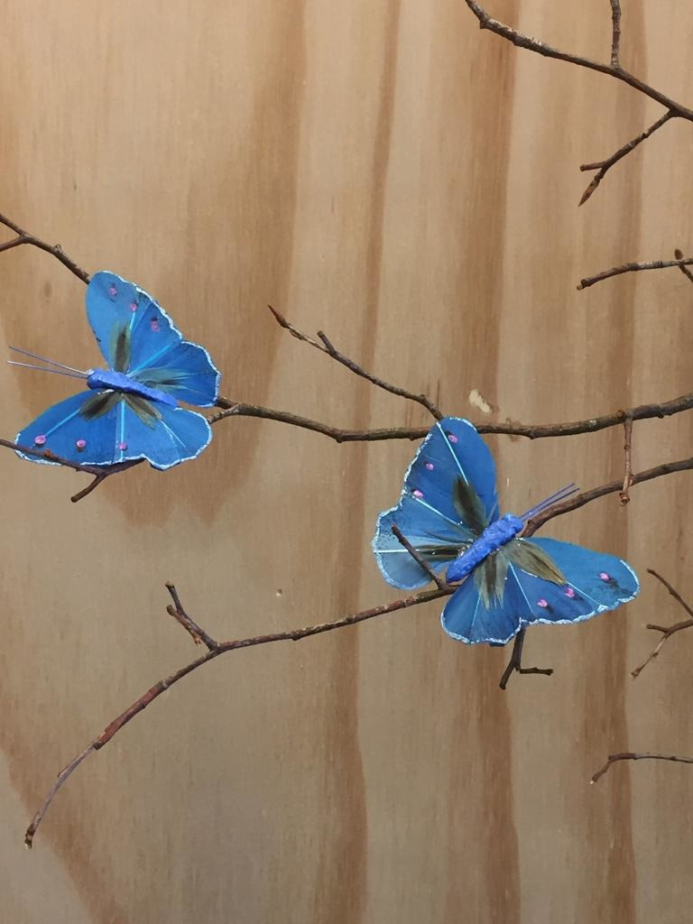 Vlindertjes - Kobalt