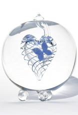 Glazen Urn Blauwe Vlinder