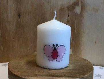 Kaarsje Vlinder Roze