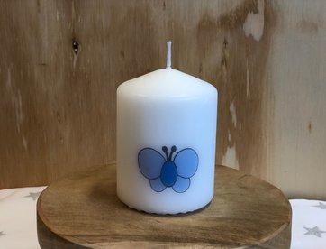 Kaarsje  Vlinder Blauw