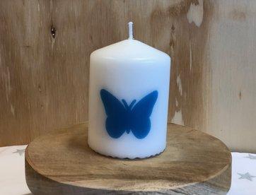 Kaarsje Vlinder Blauw wm
