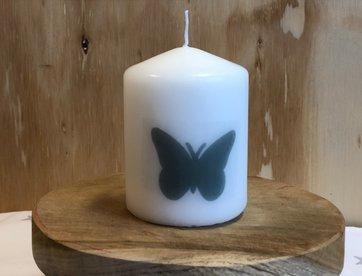 Kaarsje Vlinder Grijs wm