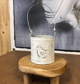 Waxinelichthouder - Vogel Wit
