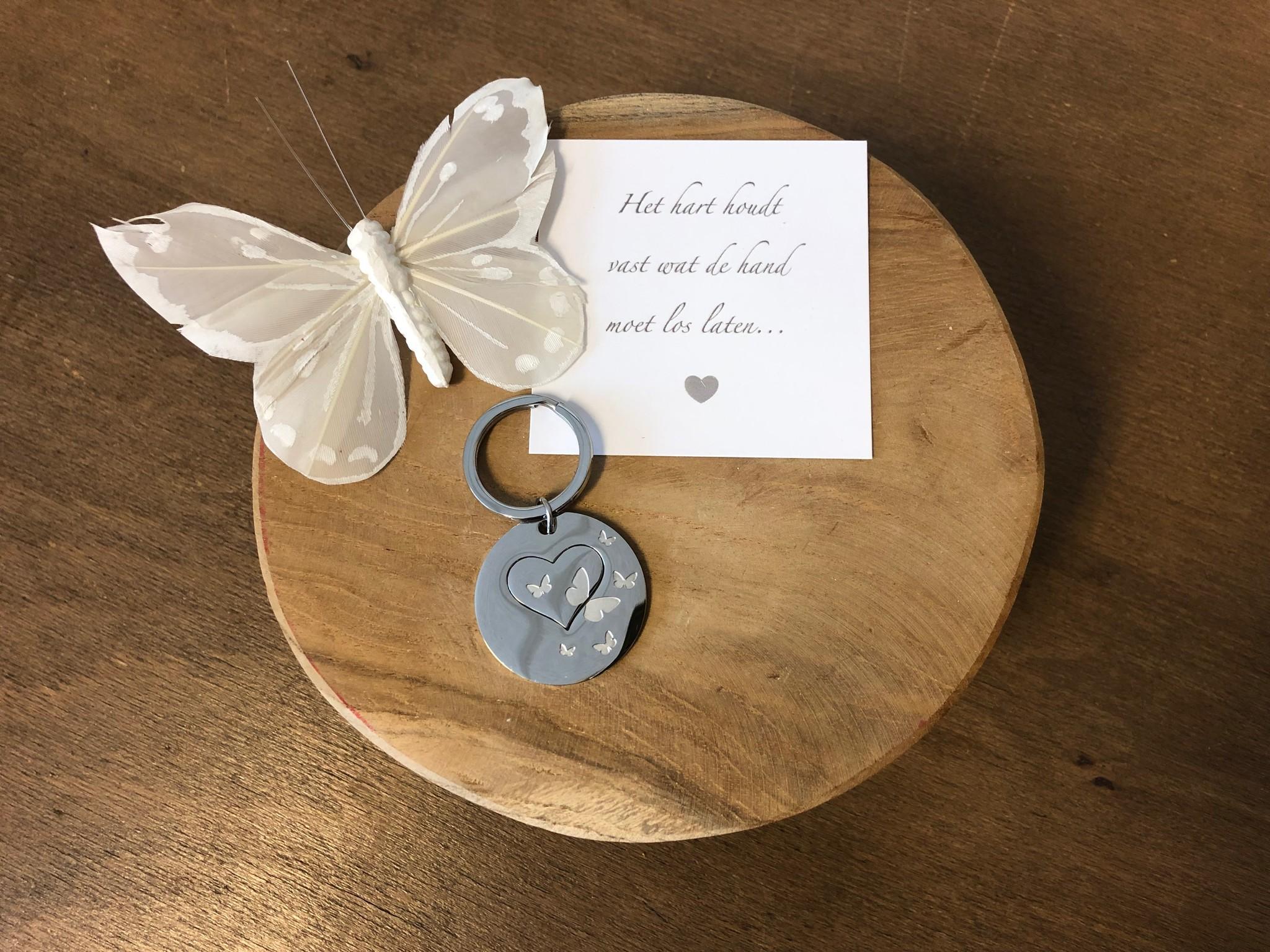 Sleutelhanger -  Rond Vlinder