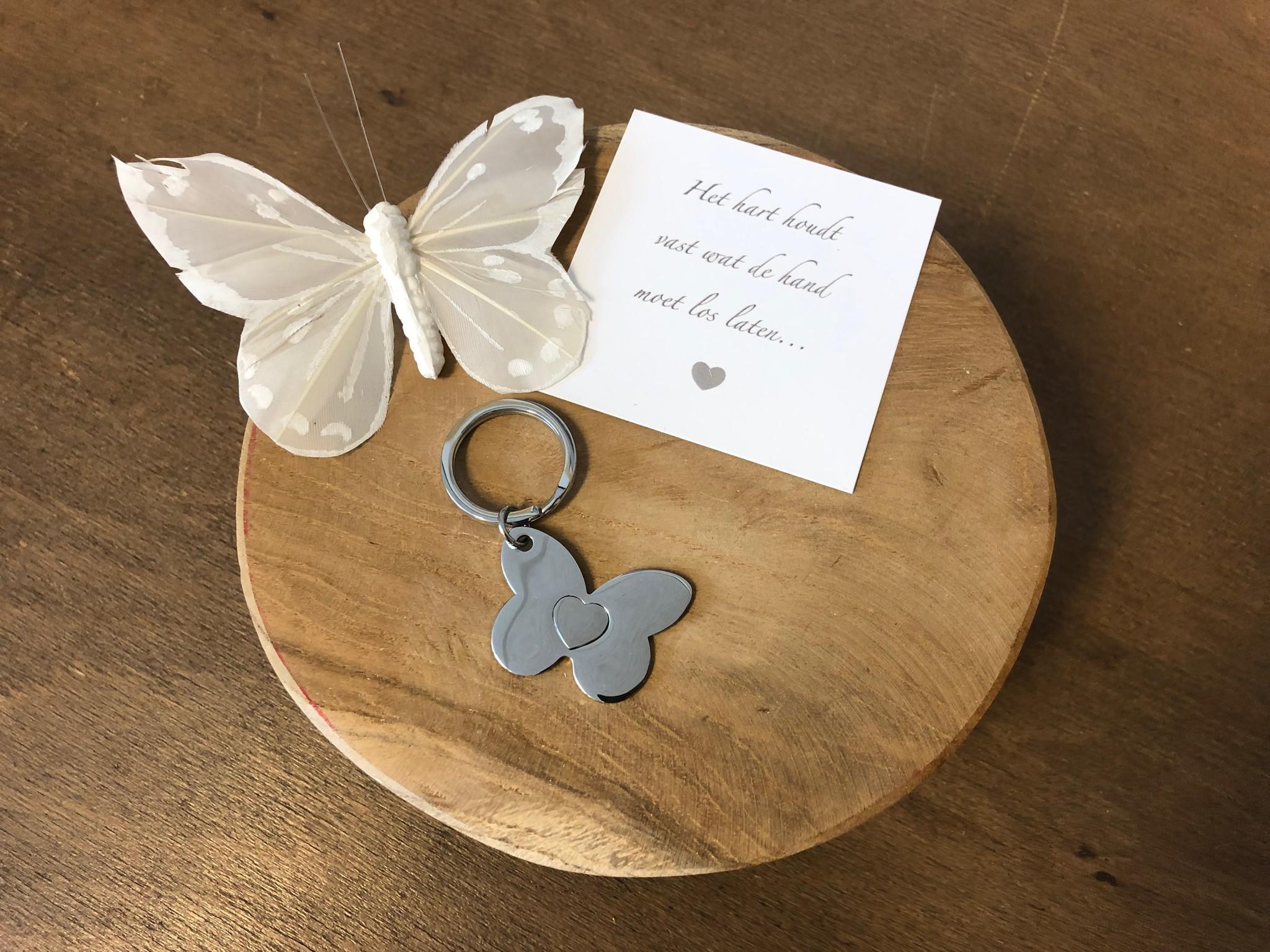 Sleutelhanger -  Vlinder