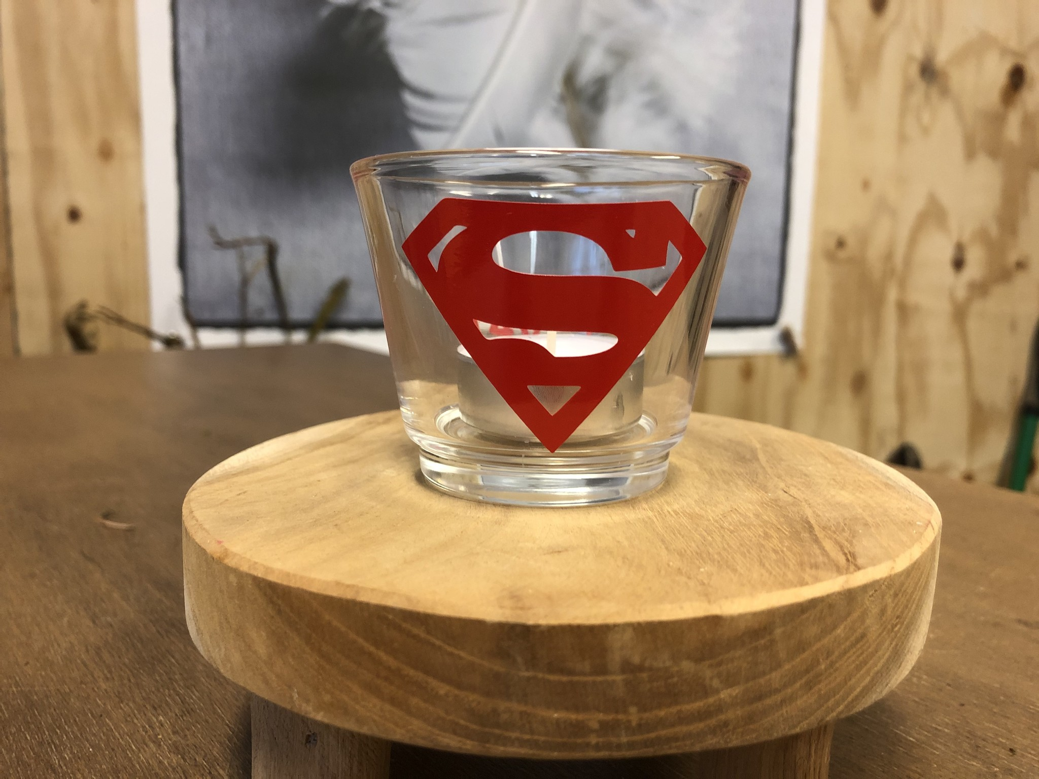 Waxinelichthouder - Superman Sven