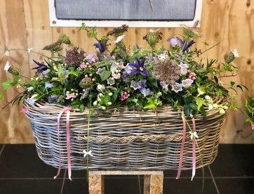 Grijs Rotan - Impressie bloemwerk