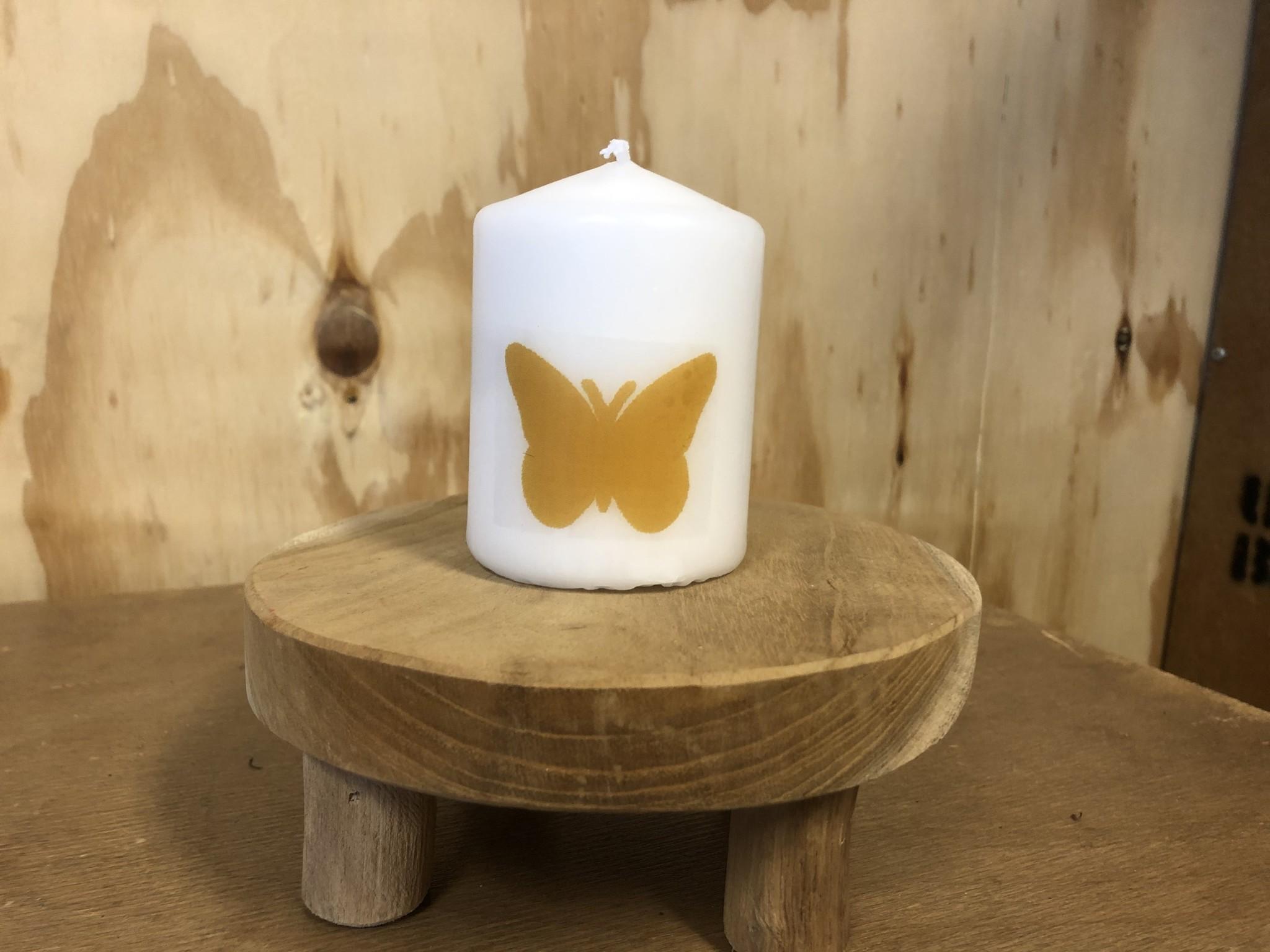 Kaarsje Vlinder Okergeel