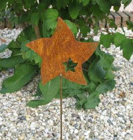 Tuinsteker Ster roestkleur
