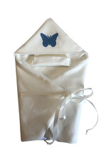 Wikkeldoek Vlinder Blauw