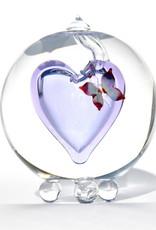 Glazen Urn gekleurde vlinder