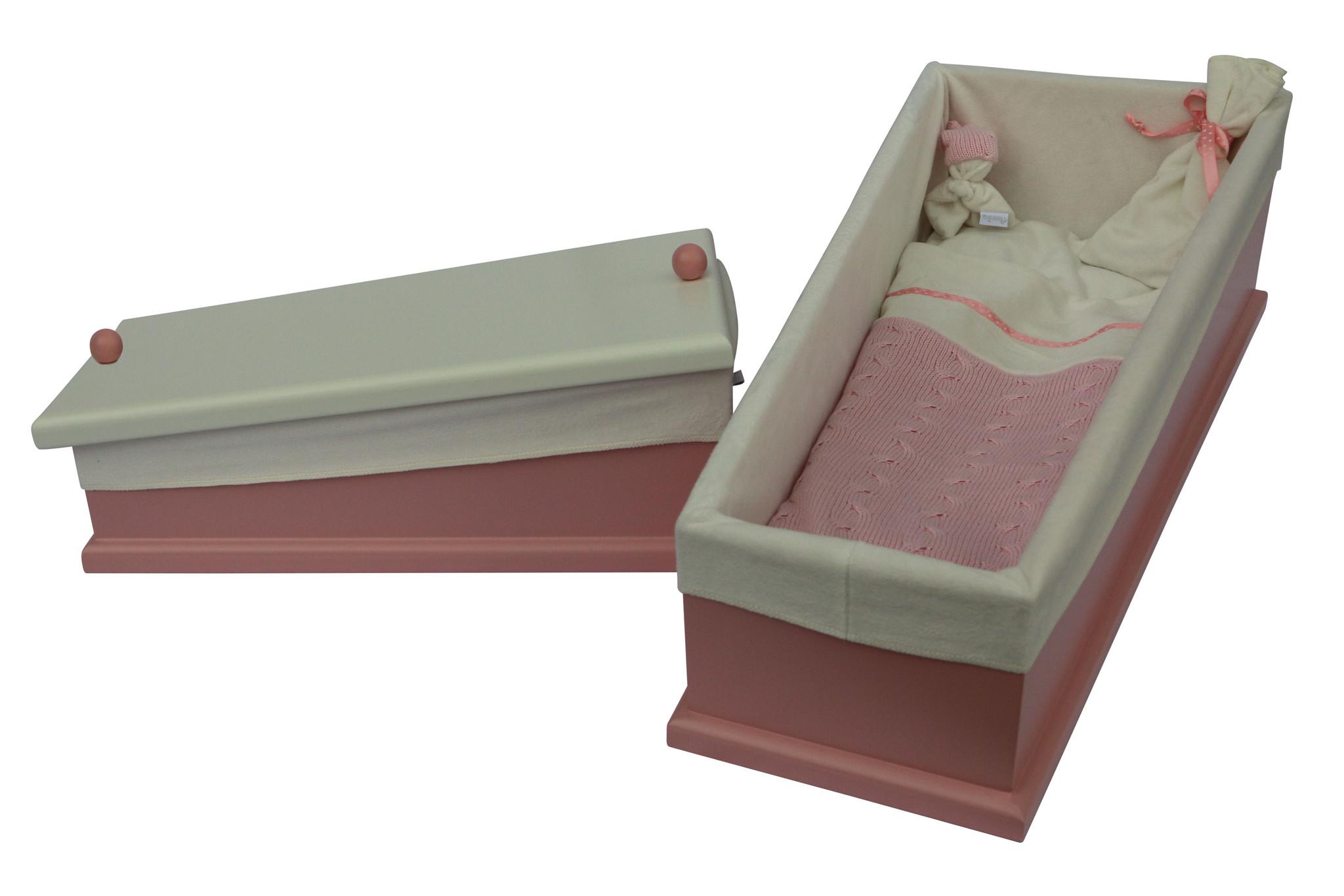 Houten kistje Cable roze