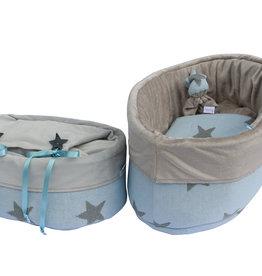 Gebreid - Star Blauw Grijs