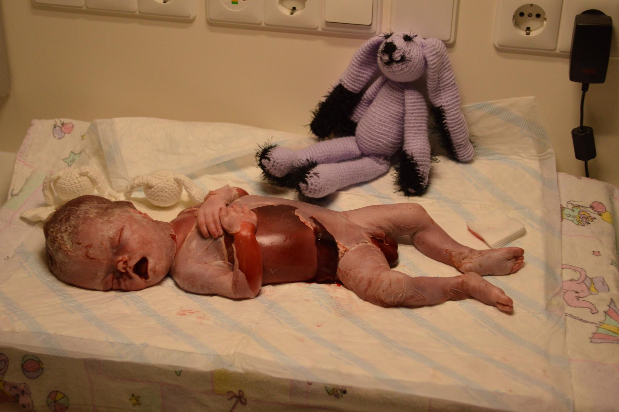 2 uur na de geboorte