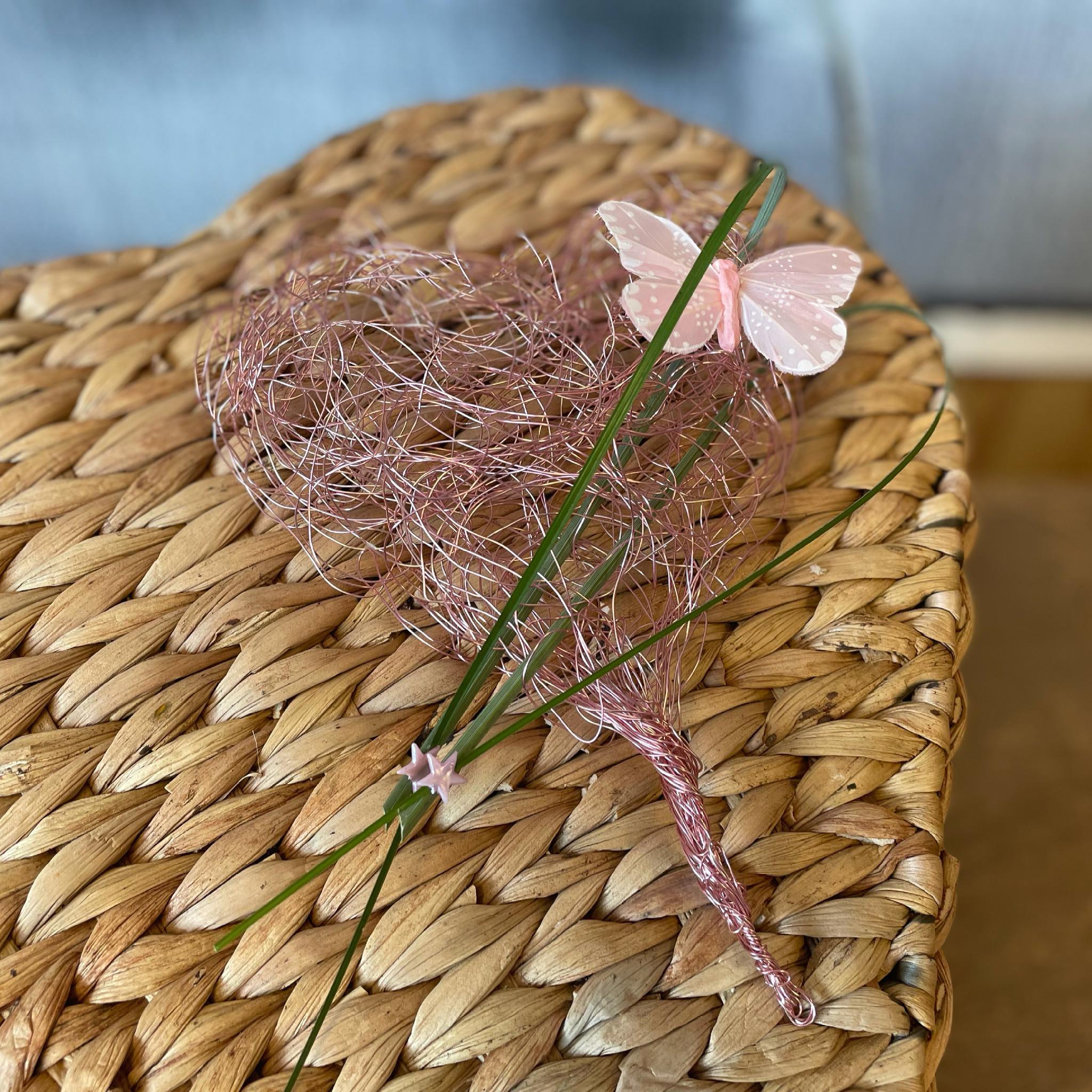 Bloemwerk Hart roze