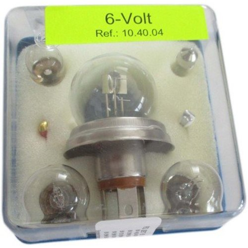 Reservelamp set 6-volt asy-duplo