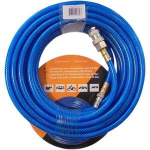 Luchtslang met koppelingen 10 meter blauw