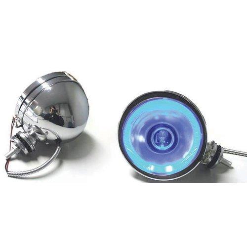 Verstraler chrome 160 mm met blue led