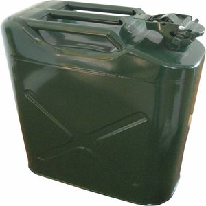 Jerrycan metaal 20 L donker
