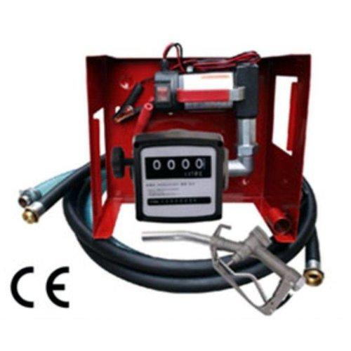 Dieselolie pomp set 12/24 volt met meter
