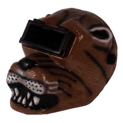Barntools Automatische lashelm luipaard