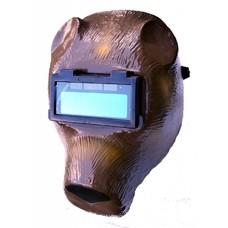 Barntools Automatische lashelm beer bruin