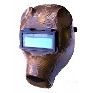 Automatische lashelm beer bruin