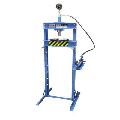 Barntools Werkplaatspers 12 ton manometer hoog