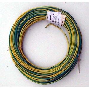 Montagedraad 1 x 1,5 mm2 geel/groen