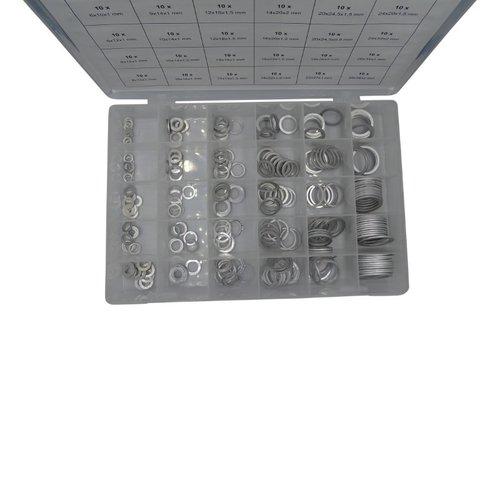 Assortimentsdoosje O Ringen aluminium 300 dlg