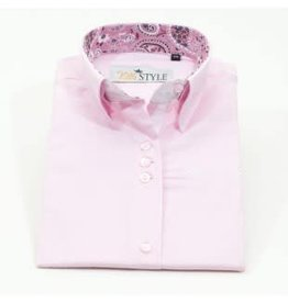 Villa Style Villa Style Hoog boord blouse roze