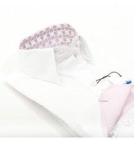 Villa Style Villa Style Hoog boord blouse wit met roze kasmir print