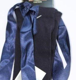 Bonnie Doon Bonnie Doon Legging d.blauw met satijnen linten