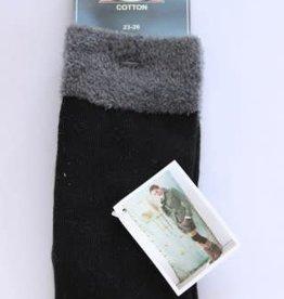 Bonnie Doon Bonnie Doon kniekous zwart met grijs bontje