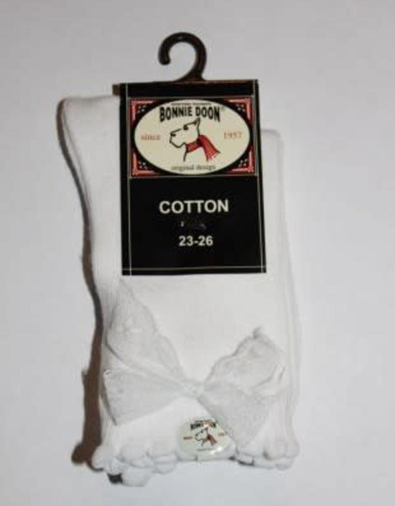 Bonnie Doon Bonnie Doon Sokje wit met wit kant