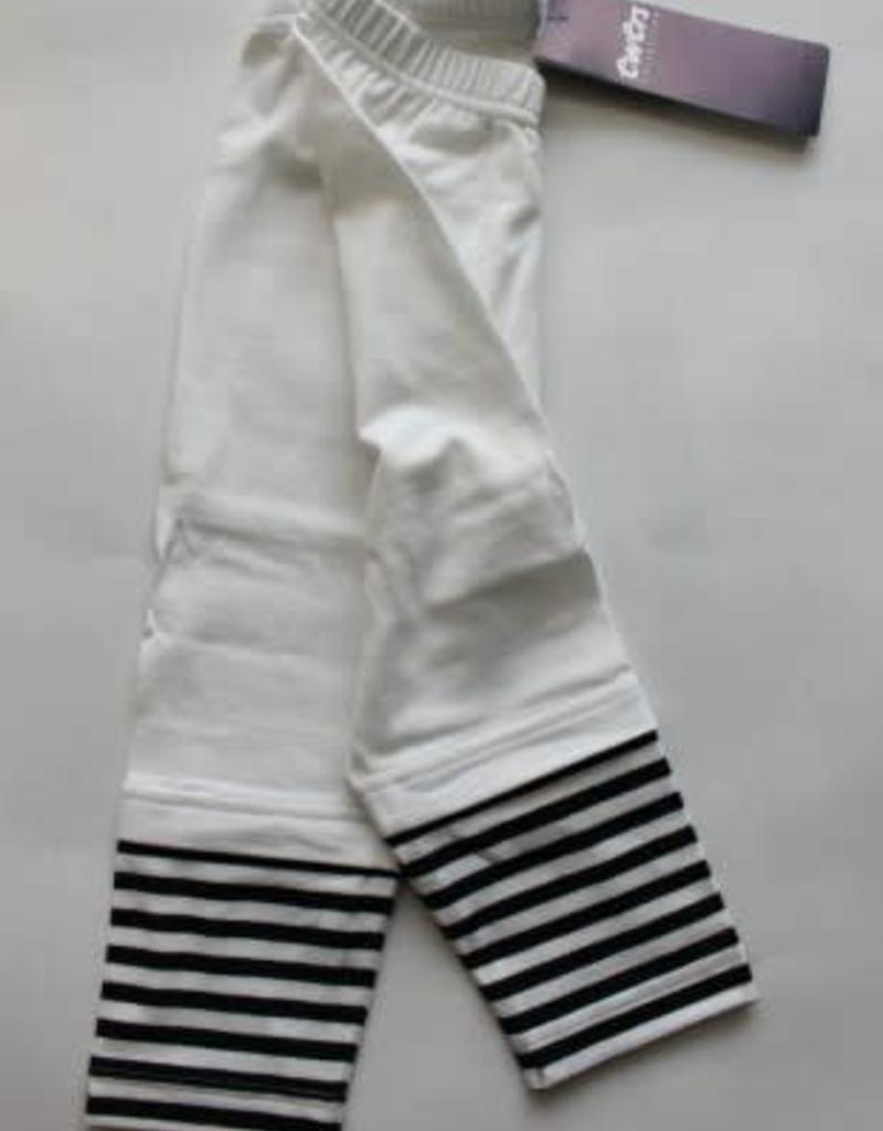 Ewers Ewers Legging wit /d.blauw streep katoen
