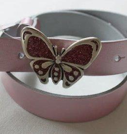 Oxxy Oxxy riem roze met vlinder gesp