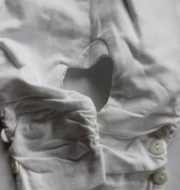 Dirkje Dirkje legging wit met knoopjes