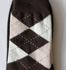 Ewers Ewers sokken in wieber bruin en roze