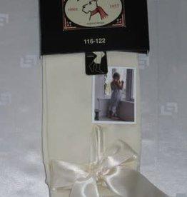 Bonnie Doon Bonnie Doon Legging off white met satijnen linten