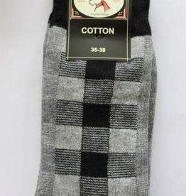Bonnie Doon Bonnie Doon Sok grijs /zwart ruitje