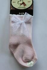 Bonnie Doon Bonnie Doon Sokje roze met kant strikje