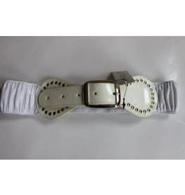 Oxxy Oxxy Riem elastisch met wit lak gesp
