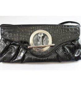 Tas met slang motief zwart