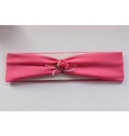 Haarband h.roze met satijnen roosje
