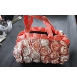 Kindertasje roze in satijnen stof